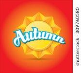 beautiful autumn illustrations .... | Shutterstock .eps vector #309760580