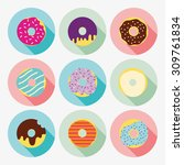 Cute And Bright Set Of Donuts...
