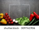 Fresh Vegetables With Chalk...