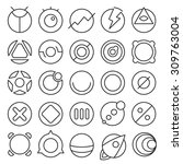 vector set of round...