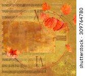 Vintage Style Autumn Collage...