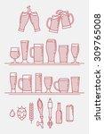 cool linear halftone artisan...   Shutterstock .eps vector #309765008
