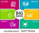 big data vector illustration... | Shutterstock .eps vector #309778334