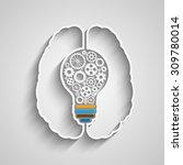 human brain creating a new idea....   Shutterstock .eps vector #309780014