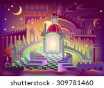 fairyland fantasy castle ... | Shutterstock .eps vector #309781460