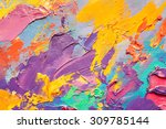Abstract Art  Background. Oil...