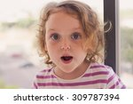 closeup portrait of a surprised ... | Shutterstock . vector #309787394