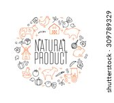 vector linear  logo   icons and ... | Shutterstock .eps vector #309789329