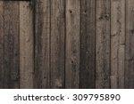 Old Dark Wooden Wall