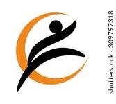 fitness logo | Shutterstock .eps vector #309797318