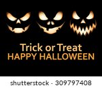 halloween elements  vectors | Shutterstock .eps vector #309797408