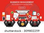 business management concept... | Shutterstock .eps vector #309802259