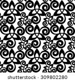 black and white celtic triskels ... | Shutterstock .eps vector #309802280