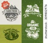 hand draw labels farm fresh.   Shutterstock .eps vector #309802976
