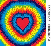 heart  love  rainbow tie dye... | Shutterstock .eps vector #309807719