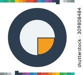 segment pie chart icon circle...   Shutterstock .eps vector #309808484