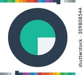 segment pie chart icon circle... | Shutterstock .eps vector #309808544