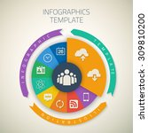 illustration of web infographic ...