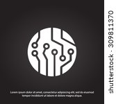 circuit board  icon. technology ... | Shutterstock .eps vector #309811370