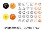 set of geometric shapes. trendy ... | Shutterstock .eps vector #309814769