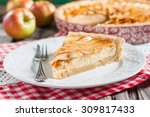apple pie with cottage cheese. | Shutterstock . vector #309817433