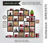 illustration of office...   Shutterstock .eps vector #309819374