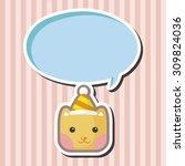 animal cat cartoon theme... | Shutterstock .eps vector #309824036