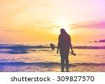 silhouette vintage women... | Shutterstock . vector #309827570