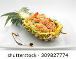 Fried Rice With Seafood Served...