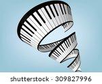 piano keyboards vector...