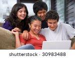teenagers watching something... | Shutterstock . vector #30983488
