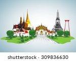 thailand travel concept  | Shutterstock . vector #309836630