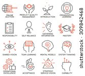 vector set of 16 icons related... | Shutterstock .eps vector #309842468