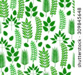 plants. seamless background. | Shutterstock .eps vector #309845648