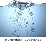 water wave with bubble | Shutterstock . vector #309846413