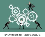 business teamwork with... | Shutterstock .eps vector #309860078