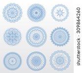 vector guilloche rosettes. use... | Shutterstock .eps vector #309864260