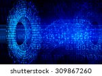dark blue light abstract... | Shutterstock .eps vector #309867260