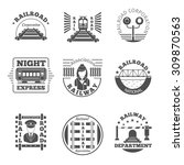 vector set of railway emblem.... | Shutterstock .eps vector #309870563