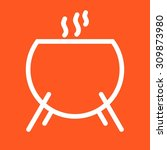 cauldron  scary  fear icon... | Shutterstock .eps vector #309873980