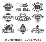 college rugby and american... | Shutterstock .eps vector #309879368