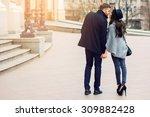 Stylish Young Couple Walking O...