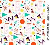 seamless geometric pattern in... | Shutterstock .eps vector #309885290