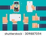 flat vector illustration of... | Shutterstock .eps vector #309887054