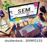 search engine marketing... | Shutterstock . vector #309892133