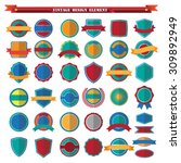 set of retro vintage badges and ... | Shutterstock .eps vector #309892949