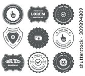 vintage emblems  labels. atm... | Shutterstock .eps vector #309894809