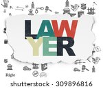 law concept  painted multicolor ... | Shutterstock . vector #309896816