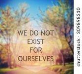 inspirational motivational life ... | Shutterstock . vector #309898310