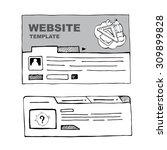 wireframe of web page for web...